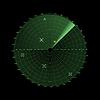 Векторный клипарт: Радар экран на сетке