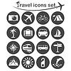 Векторный клипарт: туристический набор иконок
