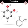 Векторный клипарт: Катехол молекула