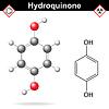 Векторный клипарт: Гидрохинон химическая формула