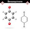 Векторный клипарт: Бензохинон молекулярная структура