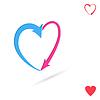 Векторный клипарт: Стрелками сердце, концепция любви