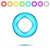 Векторный клипарт: Блестящий неоновые диск с отверстием