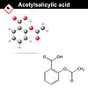 Formuła kwas acetylosalicylowy | Stock Vector Graphics