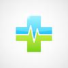 Векторный клипарт: Медицинские значок, форма поперечного