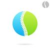 Векторный клипарт: Позвоночник логотип шаблон