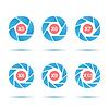 Векторный клипарт: Аperture набор иконок