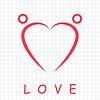 Векторный клипарт: Два счастливых людей формируется форма сердца