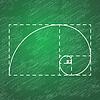 Векторный клипарт: Золотое сечение на школьной доске