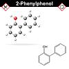 Векторный клипарт: Молекула структуры 2-фенилфенольного