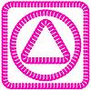 Векторный клипарт: Розовый Рамки