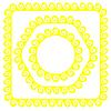 Векторный клипарт: Желтые рамок
