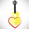Векторный клипарт: Классическая гитара