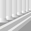 Векторный клипарт: Серые колонны