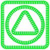 Векторный клипарт: Зеленые Рамки