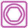 Векторный клипарт: Розовый Кабельное Рамки