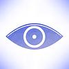 Векторный клипарт: голубой глаз