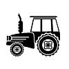 拖拉机图标 | 向量插图