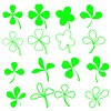 녹색 shamrocks | Stock Vector Graphics