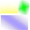 하프 톤 패턴. 하프 톤의 설정 | Stock Vector Graphics