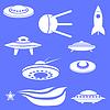 우주선 실루엣의 집합 | Stock Vector Graphics