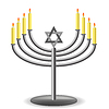 Menorah mit Kerzen Burninng