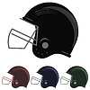 Colorful Football Helmet Icons   Stock Vector Graphics