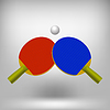 Zwei Ping Pong Rackets