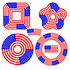 American Flag Design-Elemente