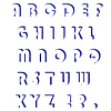 Векторный клипарт: Набор букв. Полутона алфавит
