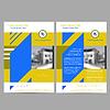Векторный клипарт: Годовой отчет Шаблон листовка Брошюра Листовка