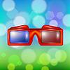 Векторный клипарт: Красные очки для просмотра фильмов