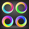 Векторный клипарт: Набор красочный круг икон