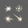 Векторный клипарт: Набор различных белые огни