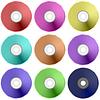 Векторный клипарт: Красочные Реалистичная Compact Disc Collection