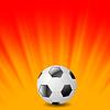 Векторный клипарт: Футбол Икона на оранжевом фоне