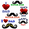 Vektor Cliparts: Happy Fathers Day Design-Kollektion