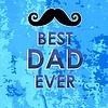 Векторный клипарт: Лучший папа плаката. Happy Fathers Day Design