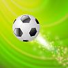 Векторный клипарт: Спорт Футбол Икона на зеленый фон волны