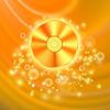 Векторный клипарт: Компакт-диск на оранжевом фоне