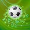Векторный клипарт: Спорт Футбол Икона на зеленом фоне