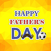 Векторный клипарт: Счастливый день отцов Плакат на желтом фоне