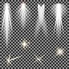 Векторный клипарт: Концерт освещения. Прожекторами. фонарь
