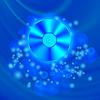 Векторный клипарт: Компакт-диск на голубой размытый фон