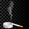 Векторный клипарт: Горящей сигареты и пепельницы