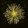 Векторный клипарт: Пиротехнические Светится Sky
