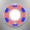 Векторный клипарт: Керамическая плита с американским флагом Печать