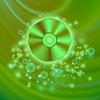 Векторный клипарт: Компакт-диск на зеленых волнах