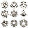 Векторный клипарт: Круглые геометрические орнаменты Набор