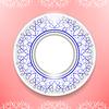 Векторный клипарт: Керамические декоративные пластины на розовый